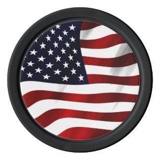 Día de la Independencia patriótico de la bandera Juego De Fichas De Póquer