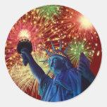 ¡Día de la Independencia! Pegatina Redonda