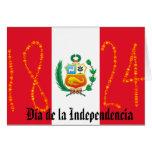 Día de la Independencia Perú Tarjeta