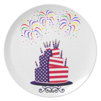 Día de la Independencia placa de la melamina de la Plato De Comida
