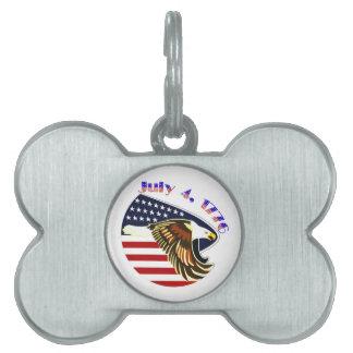 Día de la Independencia Placas Mascota