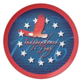Día de la Independencia Plato Para Fiesta