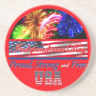 Día de la Independencia Posavasos Personalizados