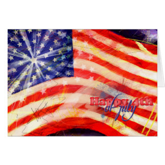 Día de la Independencia y 4 de julio Tarjeta De Felicitación
