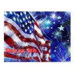Día de la Independencia y 4 de julio Tarjeta Postal