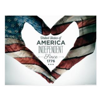Día de la Independencia y de julio el cuarto Tarjeta Postal