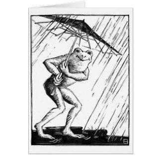 Día de la lluvia tarjeton