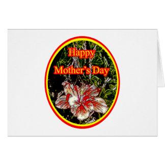 Día de la madre feliz 2 o del hibisco del paño El  Felicitacion