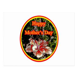 Día de la madre feliz 2 o del hibisco del paño El Postal