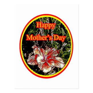 Día de la madre feliz 2 o del hibisco del paño El Tarjetas Postales