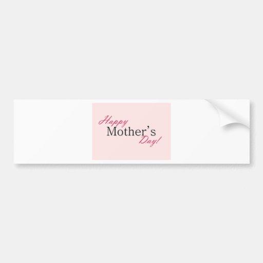 Día de la madre feliz etiqueta de parachoque