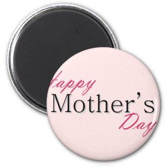 Día de la madre feliz imán redondo 5 cm