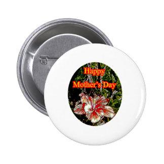 Día de la madre feliz o del hibisco del paño El MU Pin