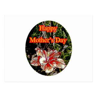 Día de la madre feliz o del hibisco del paño El Postales