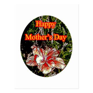 Día de la madre feliz o del hibisco del paño El Tarjetas Postales