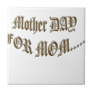Día de la madre para la mamá tejas  cerámicas