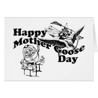 Día de la mamá ganso tarjeta pequeña