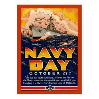 Día de la marina de guerra del vintage postales
