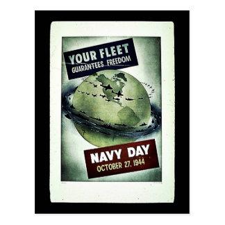 Día de la marina de guerra tarjeta postal