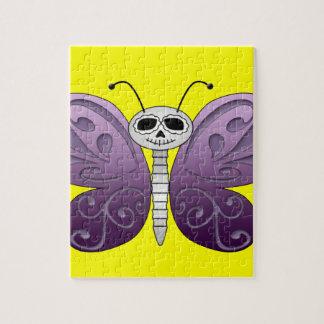 Día de la mariposa del diseño muerto rompecabezas