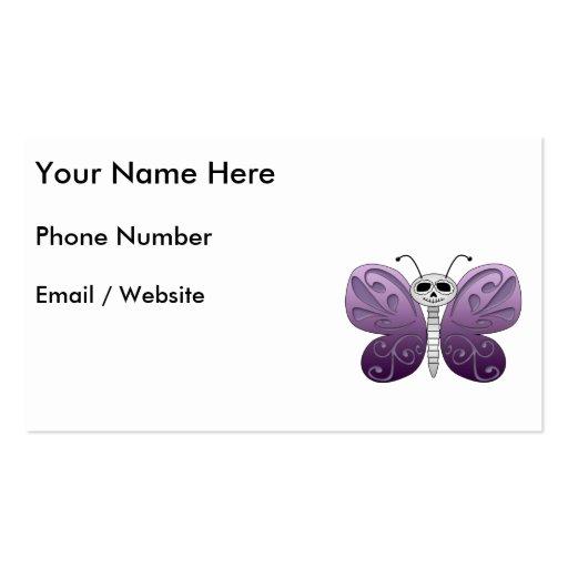 Día de la mariposa del diseño muerto plantilla de tarjeta personal