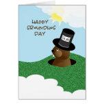 Día de la marmota 2 de febrero feliz tarjeta