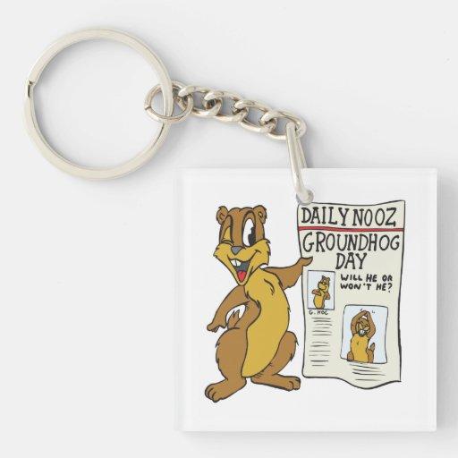 Día de la marmota 4 llaveros