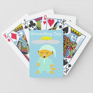 Día de la marmota baraja de cartas bicycle