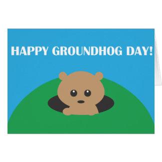 Día de la marmota - búsqueda de la palabra tarjeta de felicitación