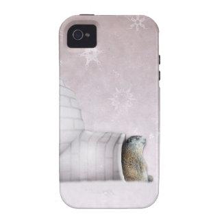 Día de la marmota - Chillin en el iglú Case-Mate iPhone 4 Carcasas