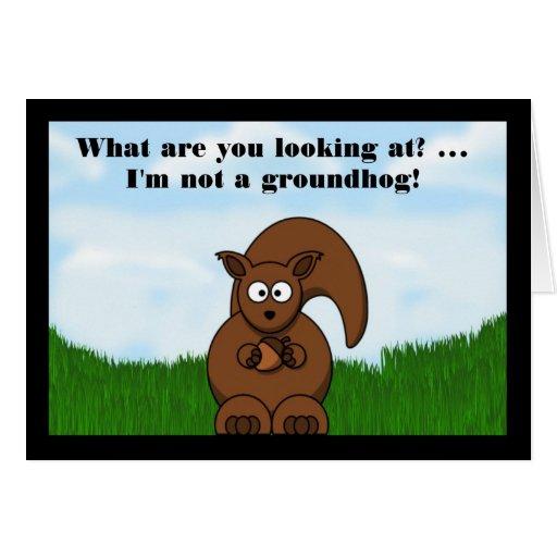 Día de la marmota feliz con humor divertido de la  felicitacion