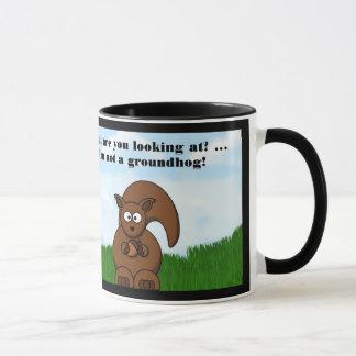 Día de la marmota feliz con humor divertido de la taza