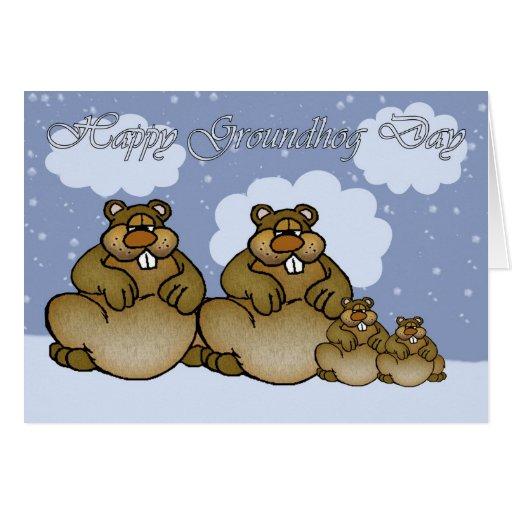 Día de la marmota feliz, familia de Groundhog