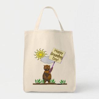 Día de la marmota feliz Groundhog Bolsa