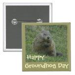 Día de la marmota feliz - Pin