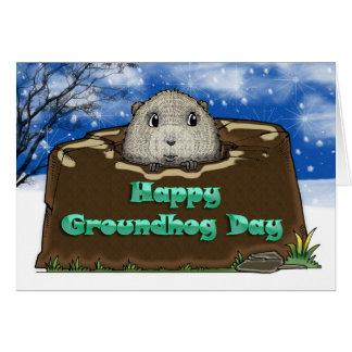 Día de la marmota feliz, tarjeta de felicitación