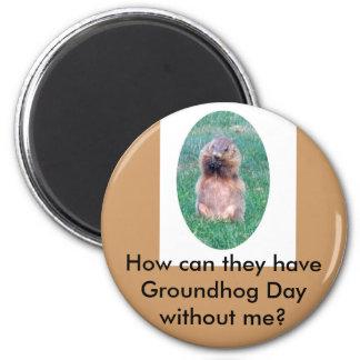Día de la marmota iman para frigorífico