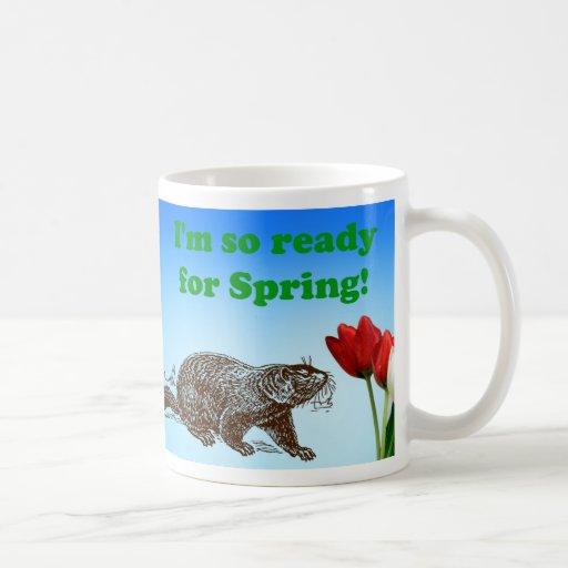 Día de la marmota tan listo para el día de fiesta taza básica blanca