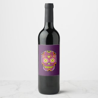 Dia de la Muerte Purple WIne Label