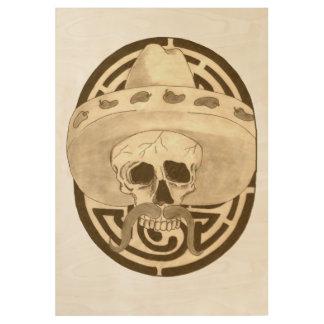 Dia de la Muertos, Dude! Wood Poster