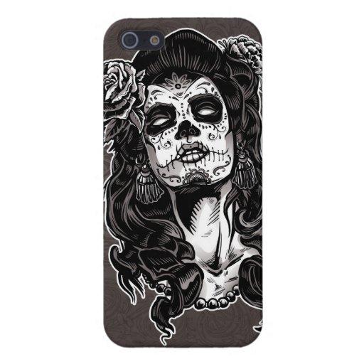 Día de la mujer muerta iPhone 5 funda
