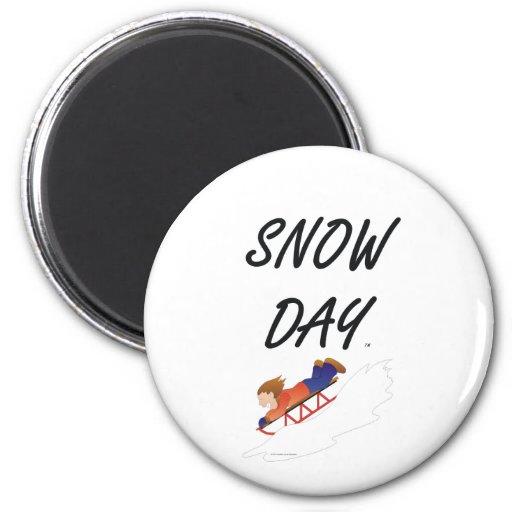 Día de la nieve de la CAMISETA Imanes