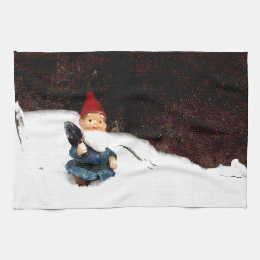 Día de la nieve de los matones toalla de mano