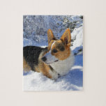 Día de la nieve del Corgi Galés Puzzle Con Fotos