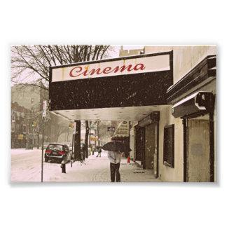 Día de la nieve en el cine cojinete