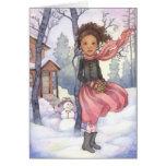 Día de la nieve - tarjeta de felicitación del invi