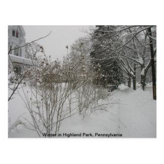 Día de la nieve tarjetas postales