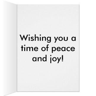 Día de la paz de mundo tarjeta de felicitación