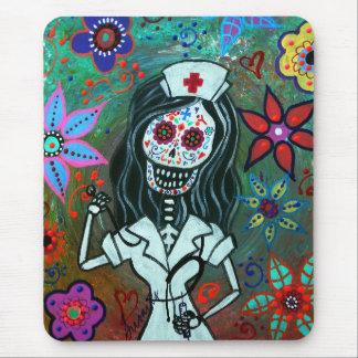 Día de la pintura muerta de la enfermera alfombrillas de raton