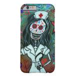 Día de la pintura muerta de la enfermera funda para iPhone 6 barely there